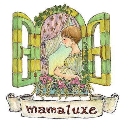 mamaluxeマタニティのロゴ