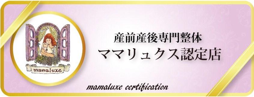 産前産後専門のママリュクス認定店