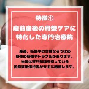 Nino治療院の特徴1(産前産後専門)